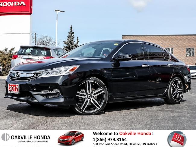 2017 Honda Accord Sedan V6 Touring 6AT 1-Owner Clean Carfax Leather  Sedan