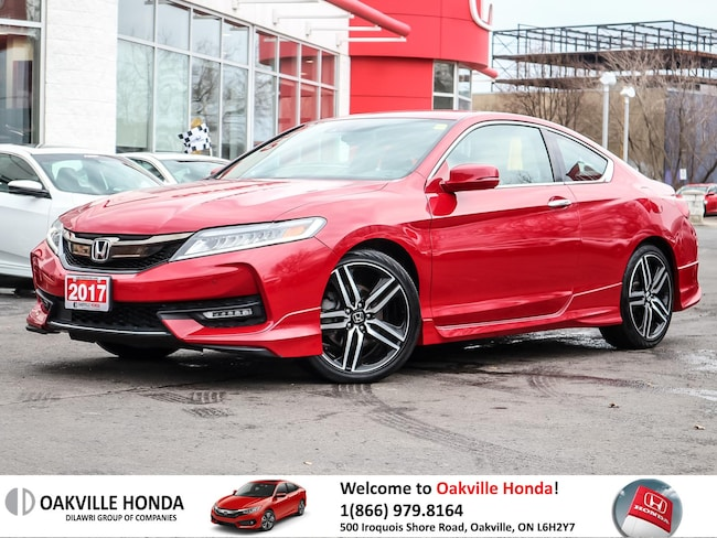 2017 Honda Accord Coupe V6 Touring 6AT 1-Owner|Cleancarfax|Lanewatch Coupe