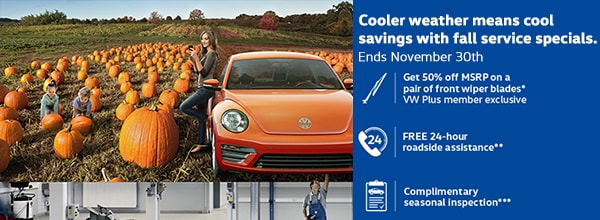 cooler weather means cool savings with fall service specials