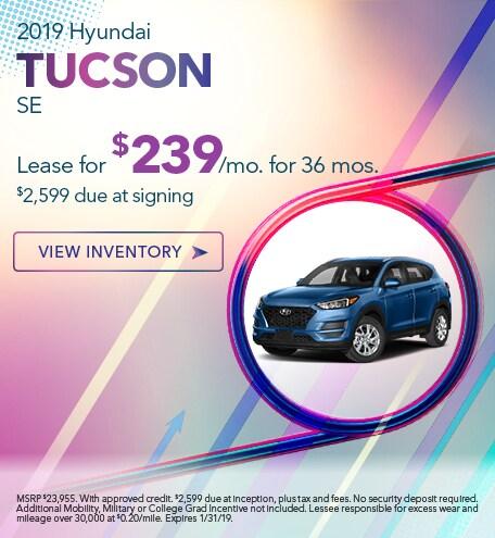 Hyundai Tucson Lease Special