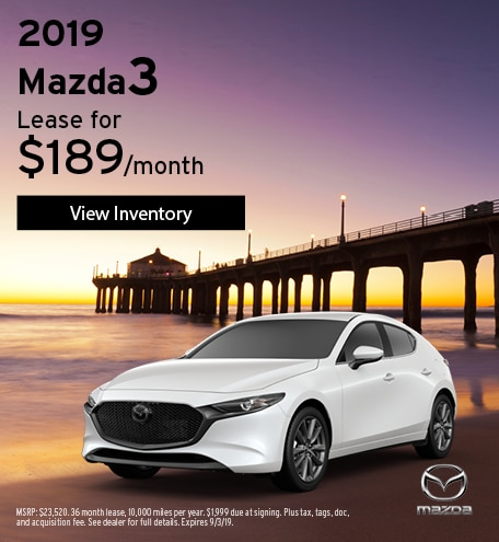 2019 Mazda3 Lease - August
