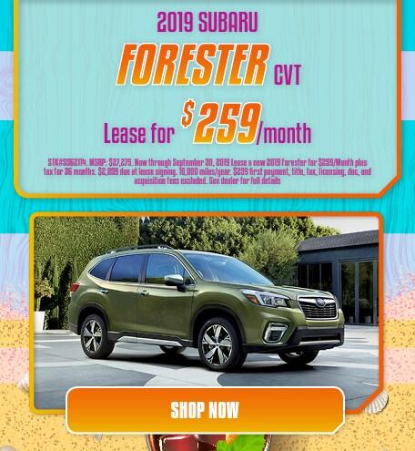 2019 Forester Lease- September