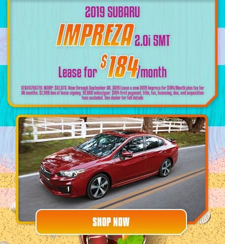 2019 Impreza Lease- September