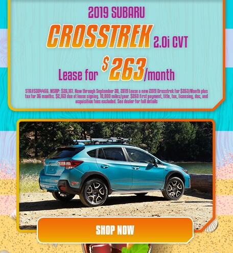 2019 Crosstrek Lease- September