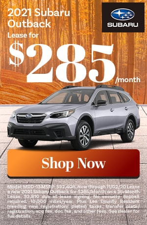 2021 Outback Lease