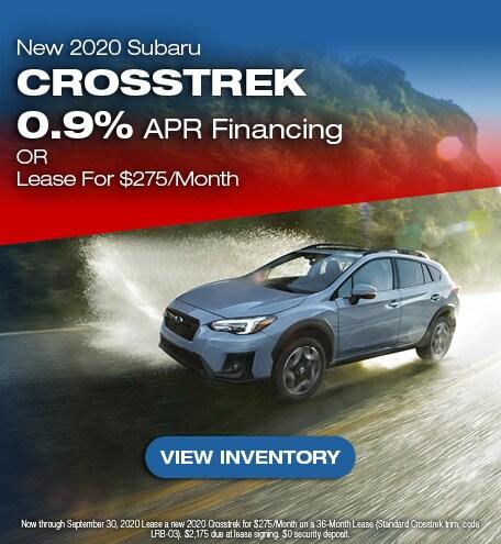 2020 Subaru Crosstrek September Special
