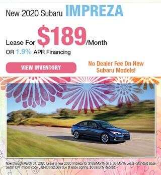 March - New 2020 Subaru Impreza