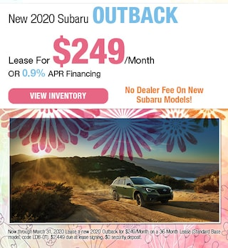 March - New 2020 Subaru Outback