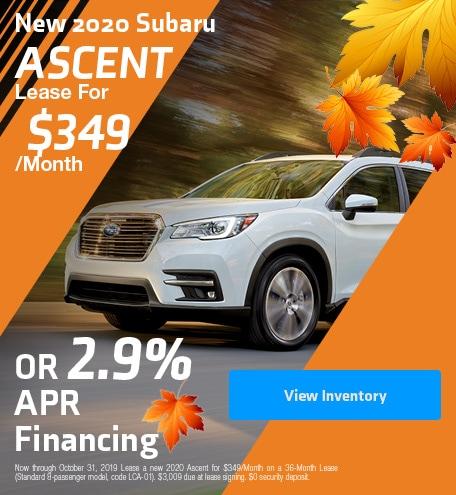 New 2020 Subaru Ascent - October Special