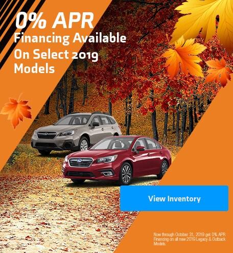 0% APR on Select 2019 Models
