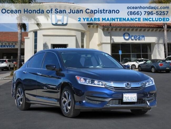 Used 2016 Honda Accord LX Sedan 1HGCR2F36GA212942 for sale near Orange County (OC) CA