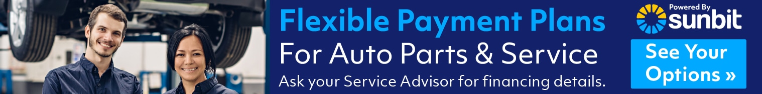 Flexible Monthly Payments for Parts & Service - Powered by sunbit