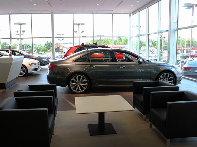 Audi Fort Wayne showroom area