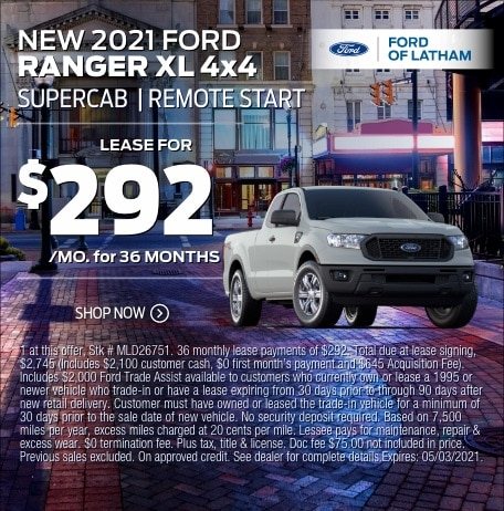 2021 Ford Ranger Lease Special