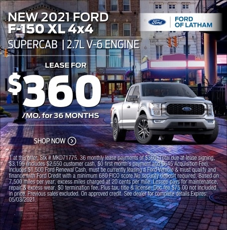 2021 Ford F-150 Lease Special