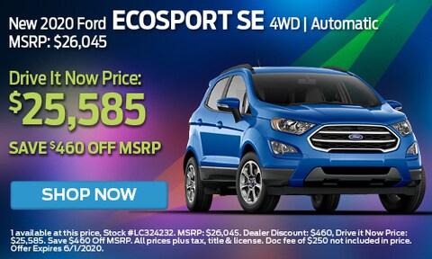 New 2020 Ford EcoSport SE