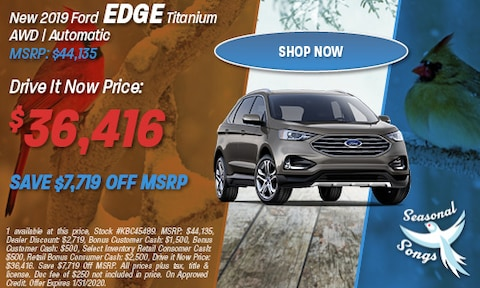 New 2019 Ford Edge Titanium AWD | Automatic MSRP: $44,135