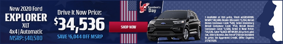 New 2020 Ford Explorer XLT 4x4 | Automatic