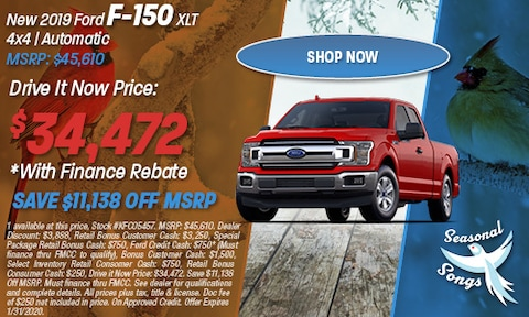 New 2019 Ford F-150 XLT 4x4 | Automatic MSRP: $45,610
