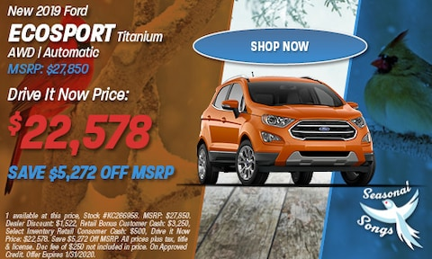 New 2019 Ford EcoSport Titanium AWD | Automatic MSRP: $27,850