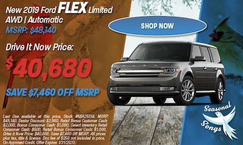 New 2019 Ford Flex Limited AWD | Automatic MSRP: $48,140