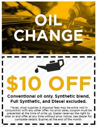 OIL CHANGE - $10 OFF