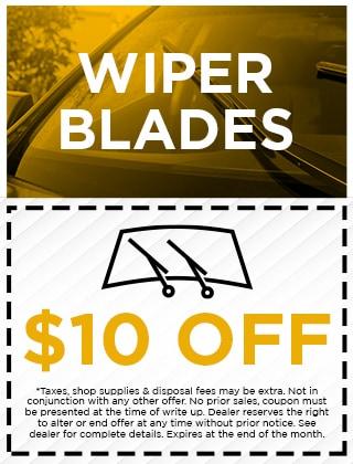 WIPER BLADES - $10 OFF