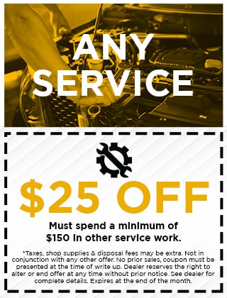 ANY SERVICE - $25 OFF