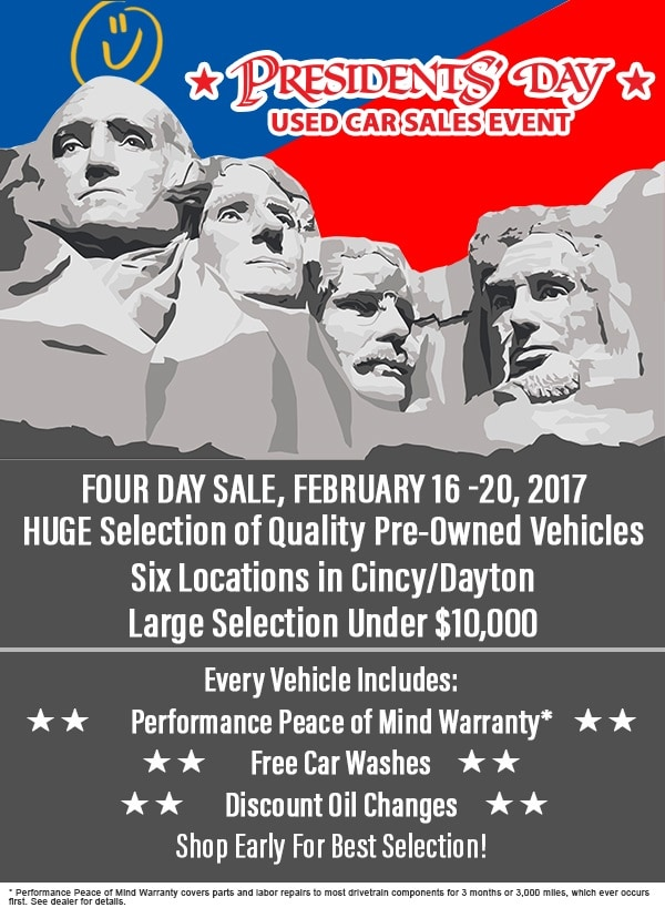 Presidents Day Car Sales 2017 >> 2017 Performance Automotive Presidents Day Used Car Sales Event In