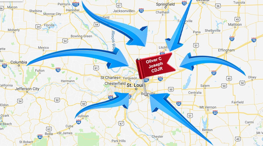 St Louis State Map.Directions Map O Fallon Columbia Belleville Il Oliver C Joseph