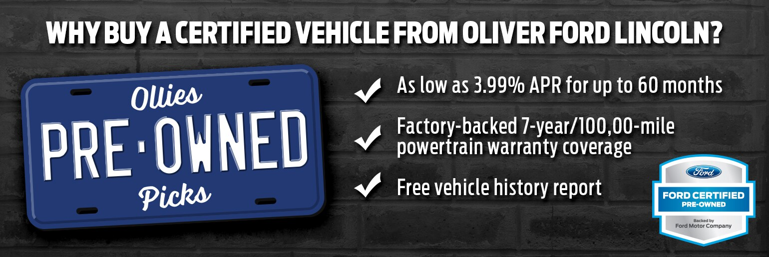 Oliver Ford Lincoln Certified Pre-Owned Vehicles in Plymouth, IN