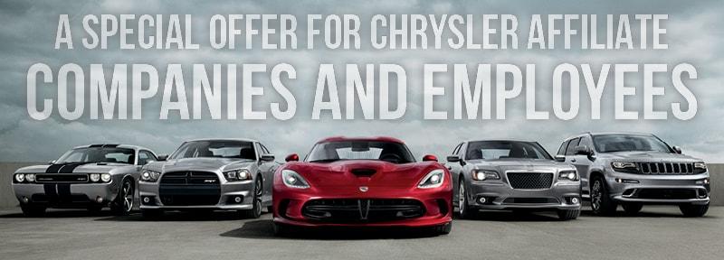 FCA Chrysler Jeep Dodge Ram Employee Pricing Toronto Mississauga - Chrysler affiliates list