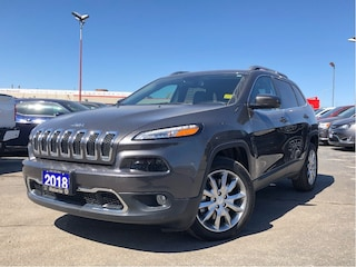 2018 Jeep Cherokee LIMITED**LEATHER**BACK UP CAM**NAV**ONLY 5230 KM** SUV