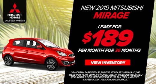 New Car Specials | Jacksonville Mitsubishi | Dealers In