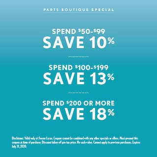 Save Up to 18% When you Spend $200 or More