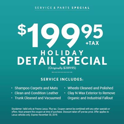 Holiday Detail Special