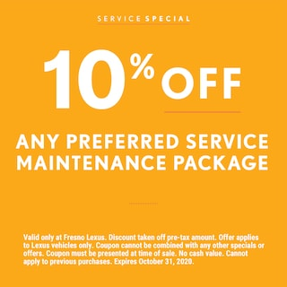 Any Preferred Service Maintenance Package