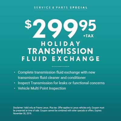 Holiday Transmission Fluid Exchange