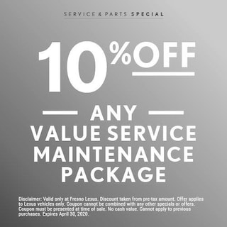 10% Off Any Value Service Maintenance Package