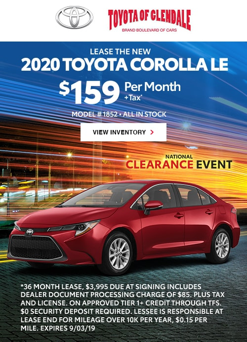 Toyota Of Glendale >> New Car Specials Toyota Rebates And Finance Offers Toyota Of