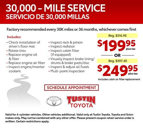 Tustin Toyota Service >> Service Specials Orange County Tustin Toyota