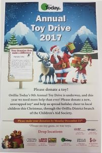 The Orillia Today Annual Toy Drive