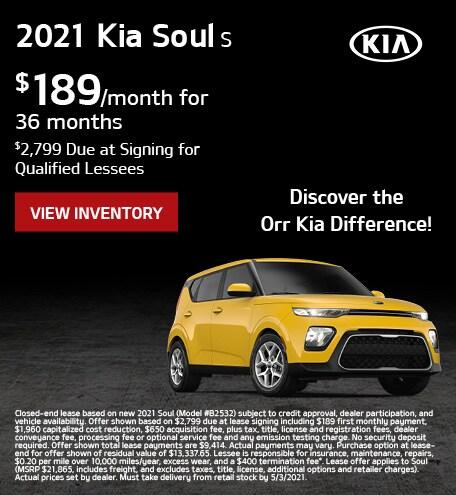 April 2021 Kia Soul