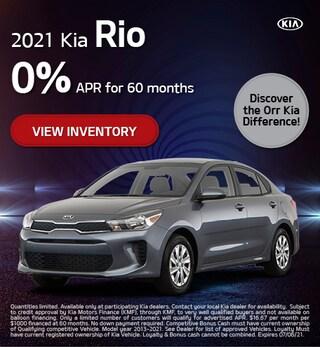 May 2021 Kia Rio