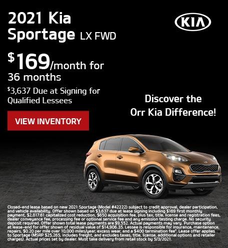 April 2021 Kia Sportage
