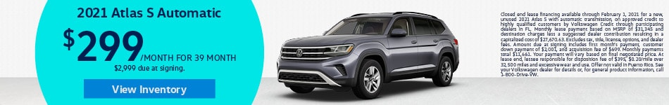 2021 Volkswagen Atlas - Lease