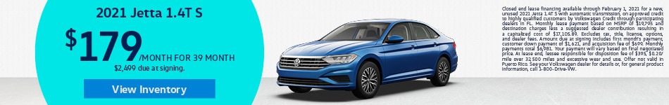 2021 Volkswagen Jetta - Lease