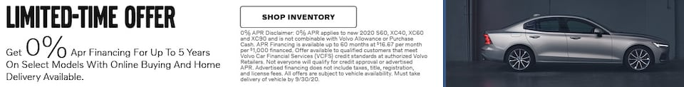 0% APR on Select Models