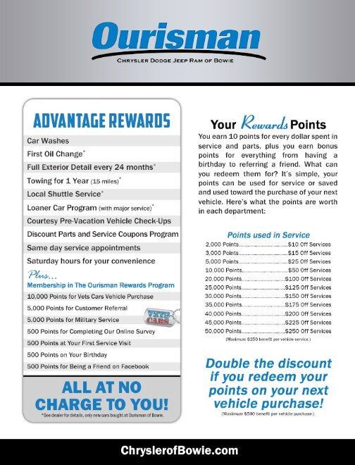 Ourisman Advantage - Benefits