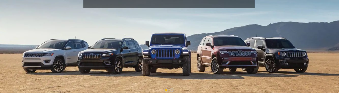 Jeep Lined up